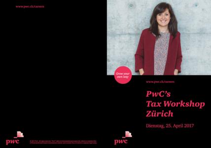 Event PricewaterhouseCoopers PwC's Tax Workshop Zürich body