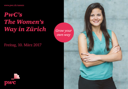 Event PricewaterhouseCoopers PwC's The Women's Way in Zürich body