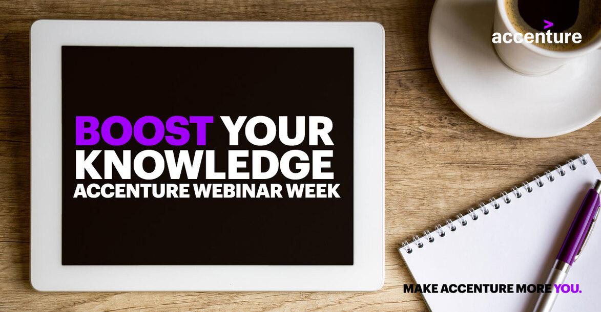 Event Accenture Boost your Knowledge – die Accenture Webinar Week header