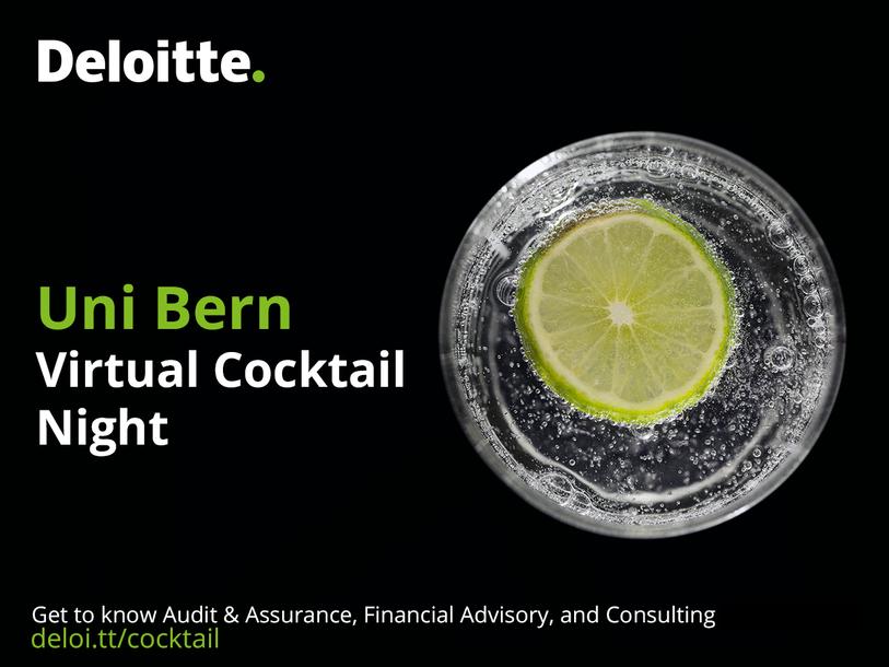 Event Deloitte Uni Bern Virtual Cocktail Night header