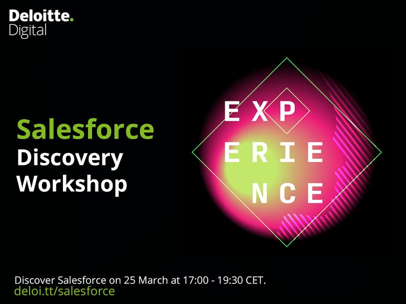 Event Deloitte Deloitte Digital Salesforce Discovery Workshop header