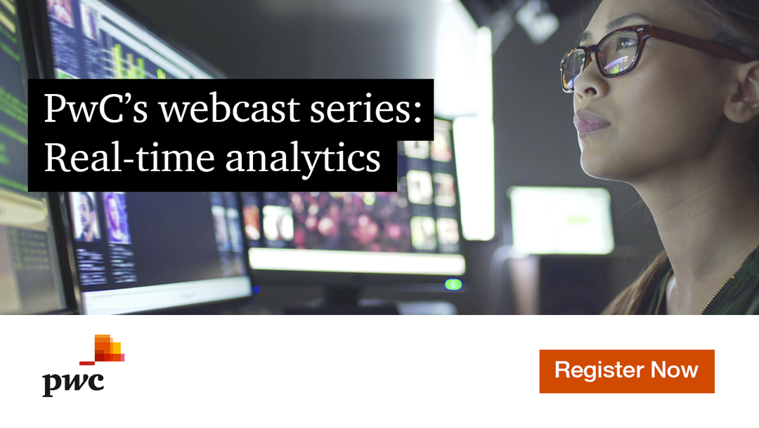 Event PwC PwC's webcast series: Real-time analytics header